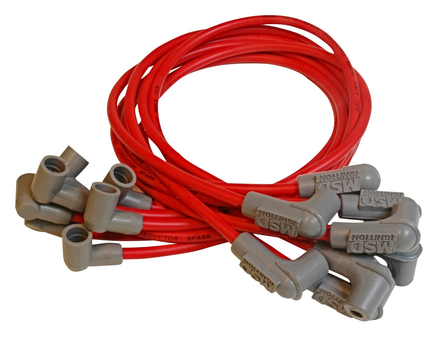 """20/"""" Racing Red Spark Plug Cable Cap with wire connector"""