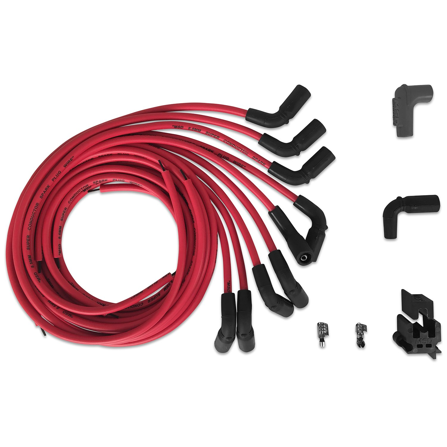 MSD 32139 Super Conductor Spark Plug Wire Set, Universal Chevy, LT1 on universal brake light switch, universal trailer hitch, universal headlight switch, universal fuel pump, universal air filter,