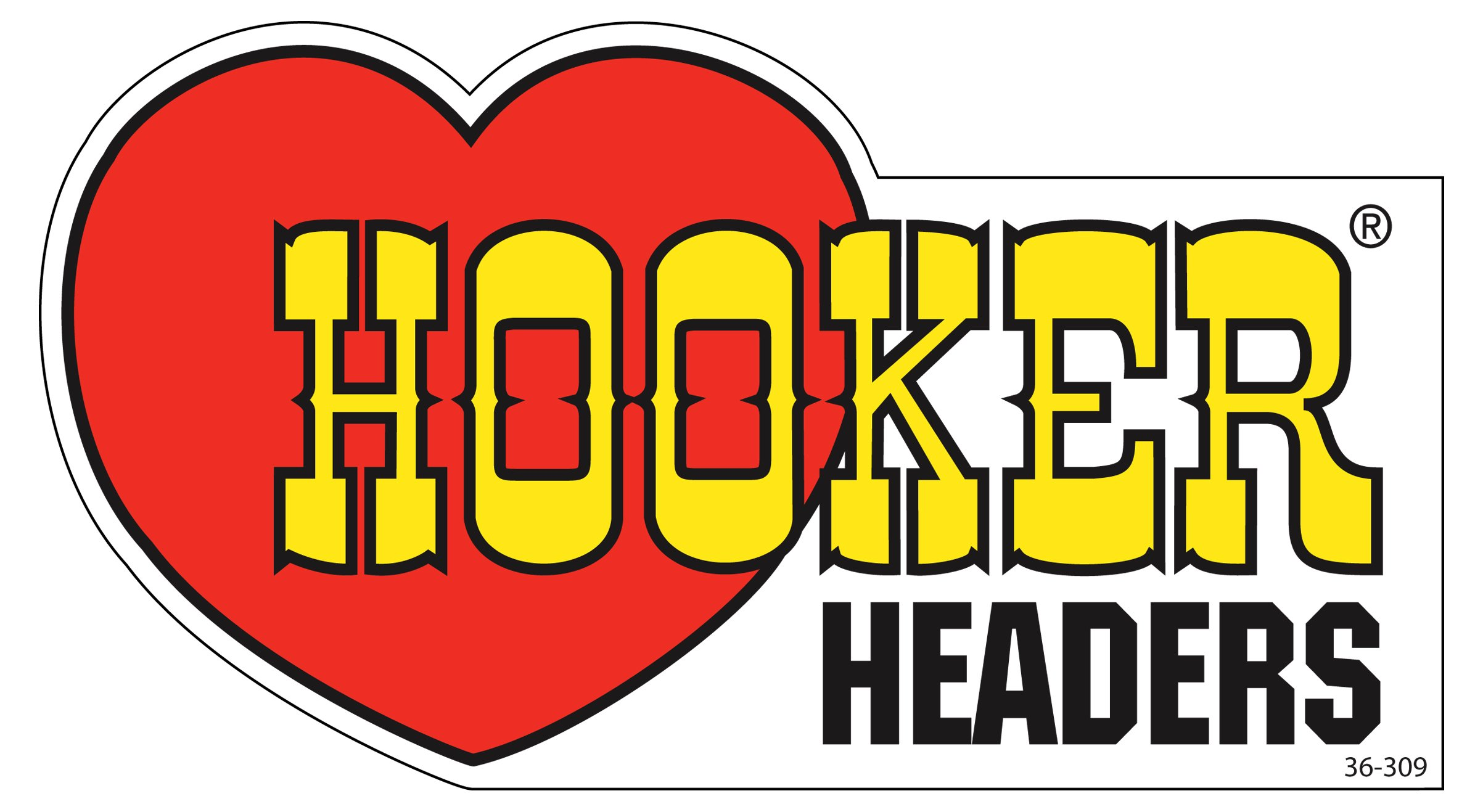 Hooker 36 309 Hooker Headers Decal