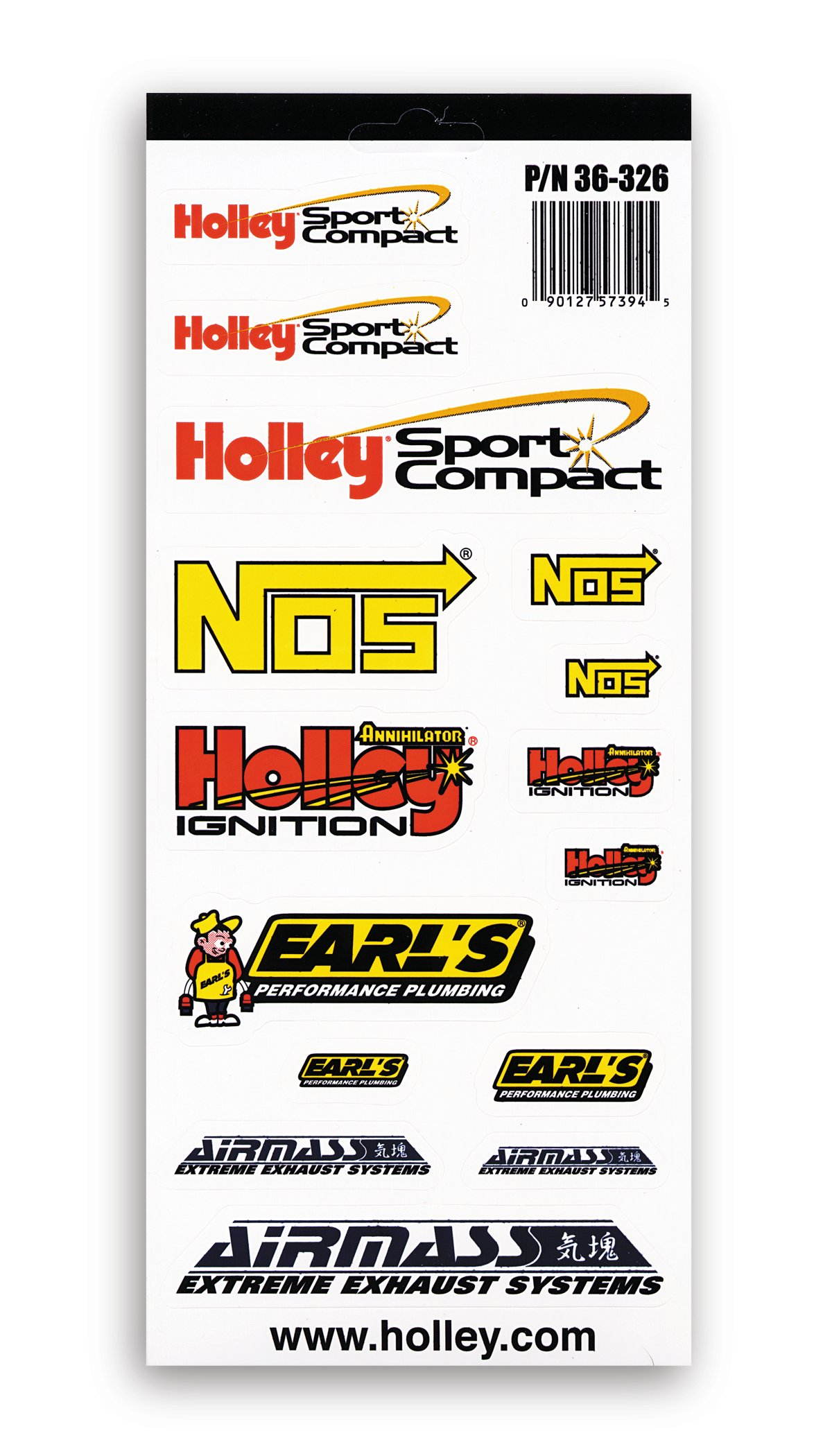 Holley Sport Compact Decals-PK