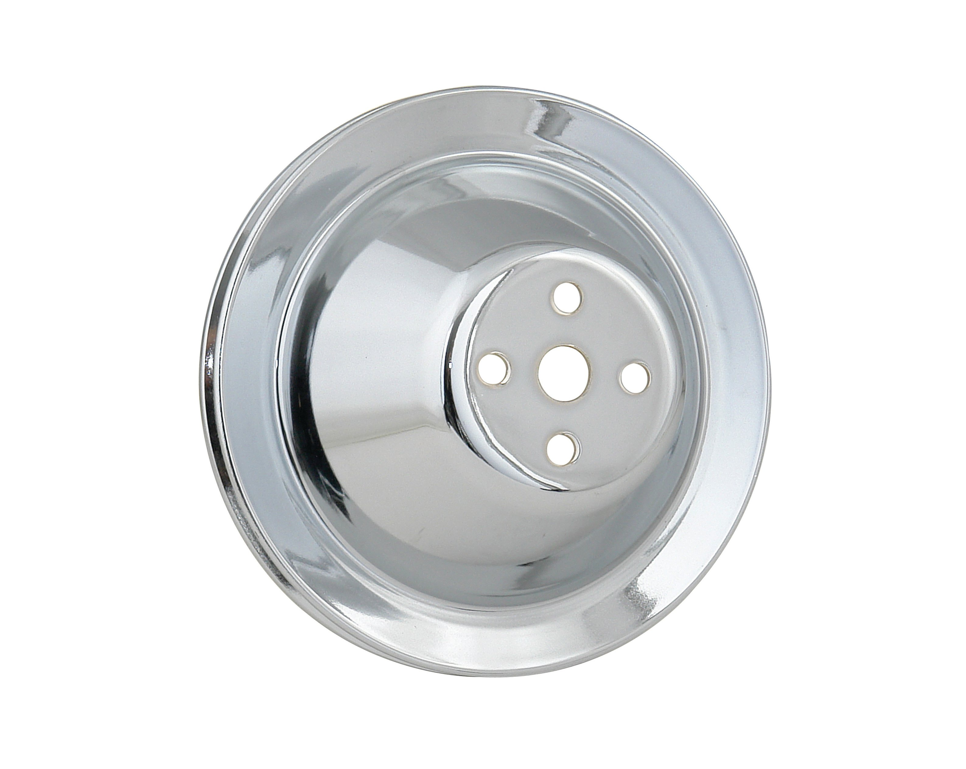 Mr. Gasket 4970 Water Pump Pulley - Chrome - Single Groove - Short ...
