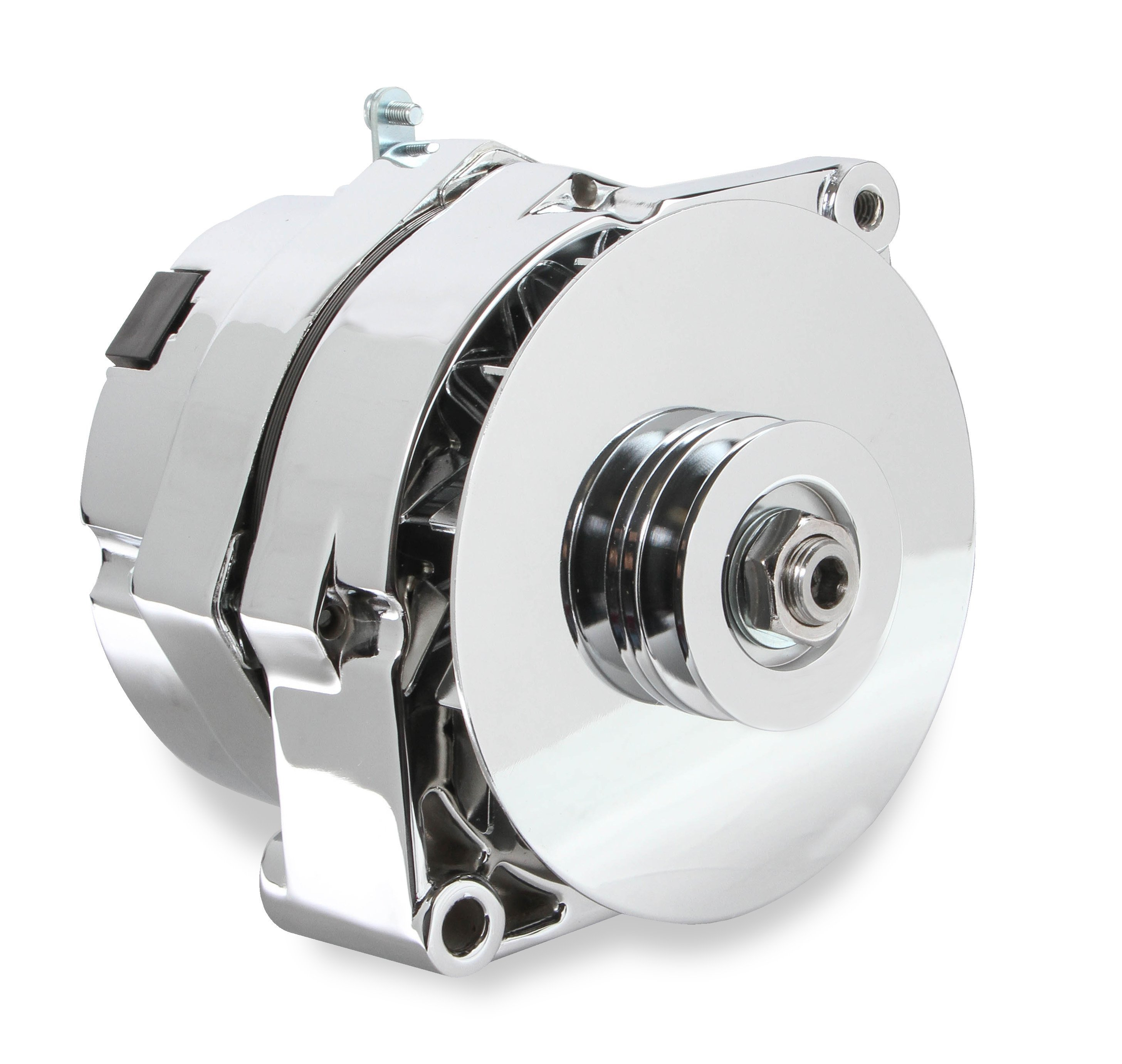 51203cg - mr gasket 1-wire alternator - 140 amp - chrome finish image