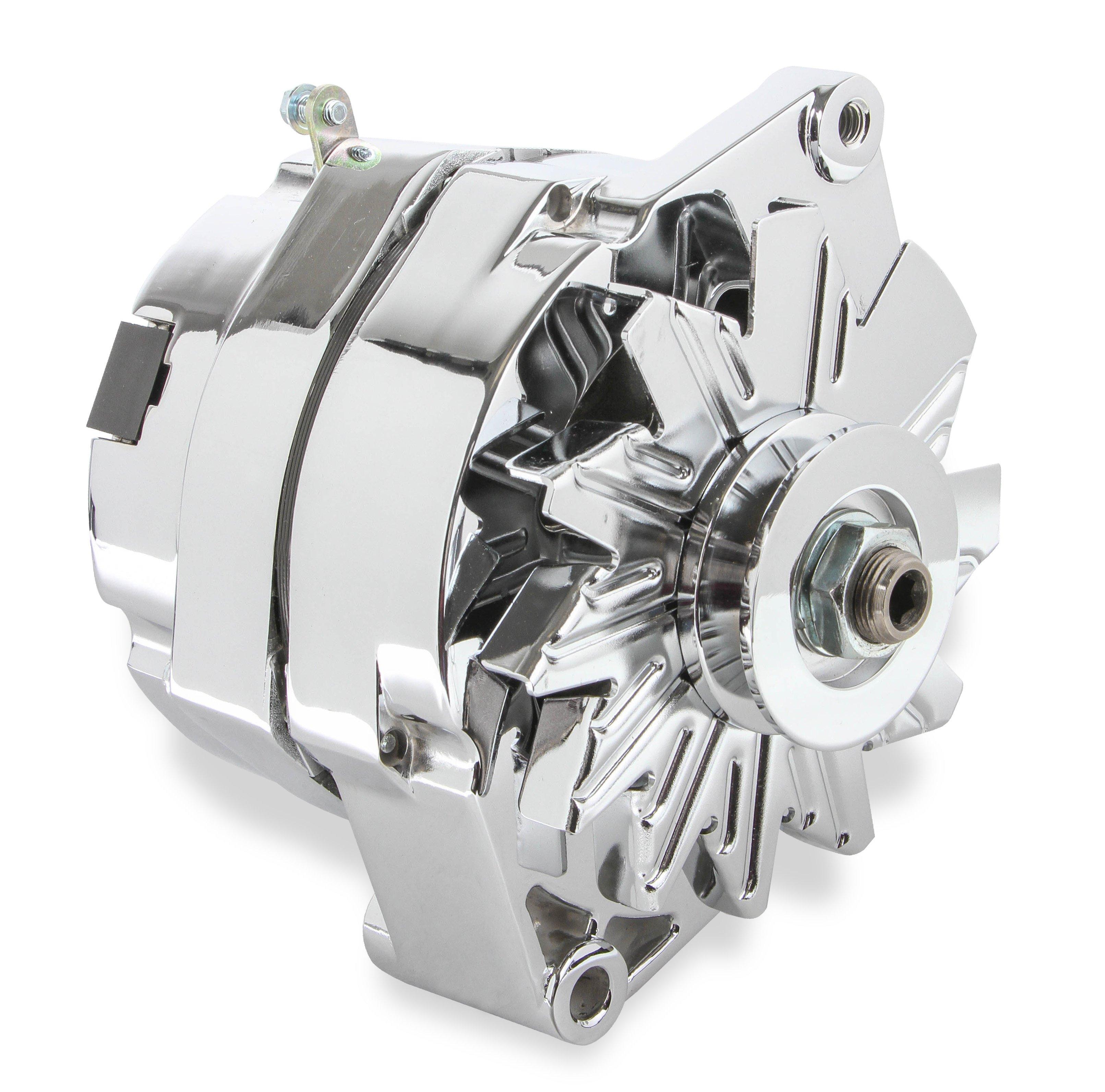 Mr Gasket 5122 Chrome Alternator Late Gm Delco 80 Amp 100 Wiring Image