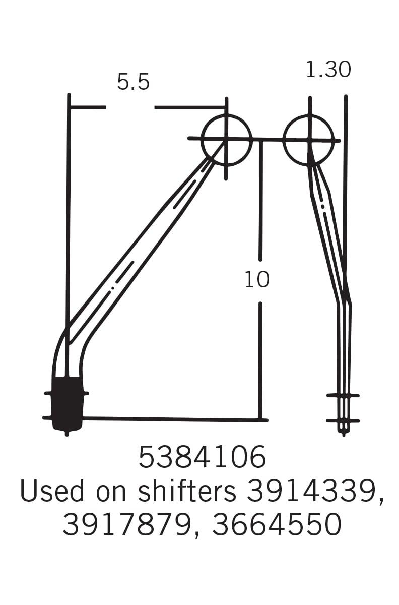 Hurst 3918014 Manual Gear Shift Lever Kit