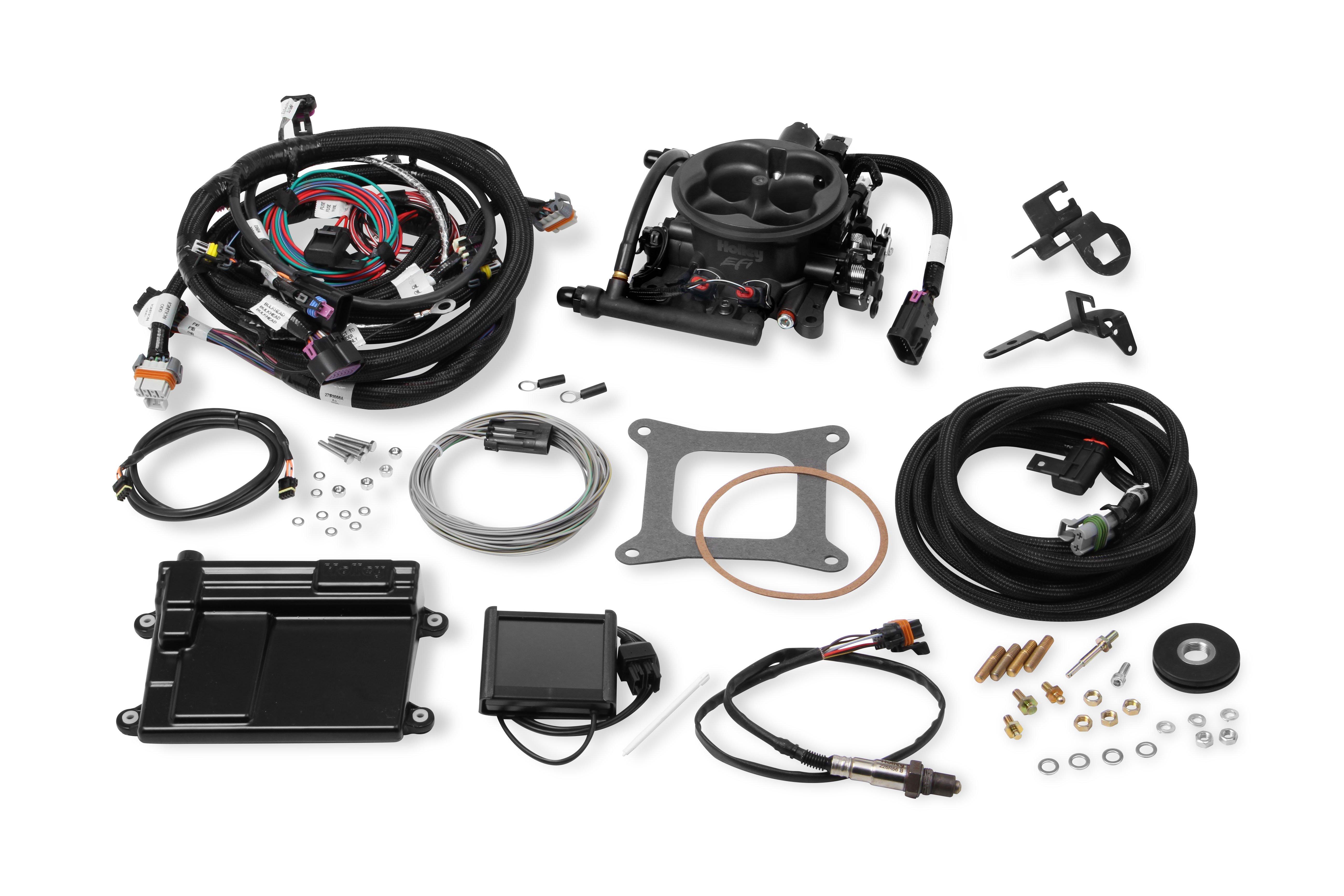 holley efi 550 410 terminator ls tbi kit hard core gray. Black Bedroom Furniture Sets. Home Design Ideas