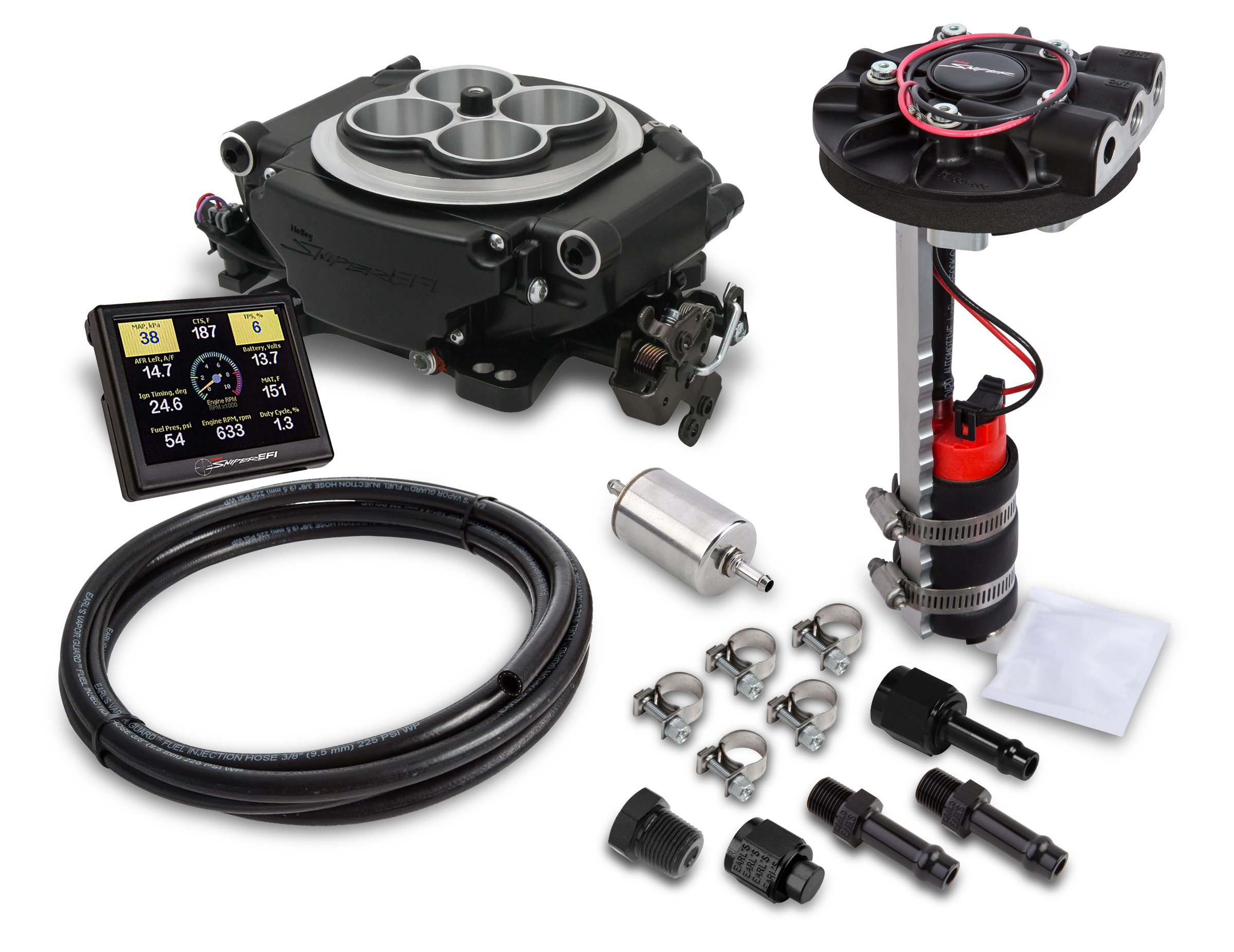 ONE INLET 4150 BRAIDED KIT HOLLEY QUICK FUEL CHOICE OF 3 COLOR FREE USA SHIPPING