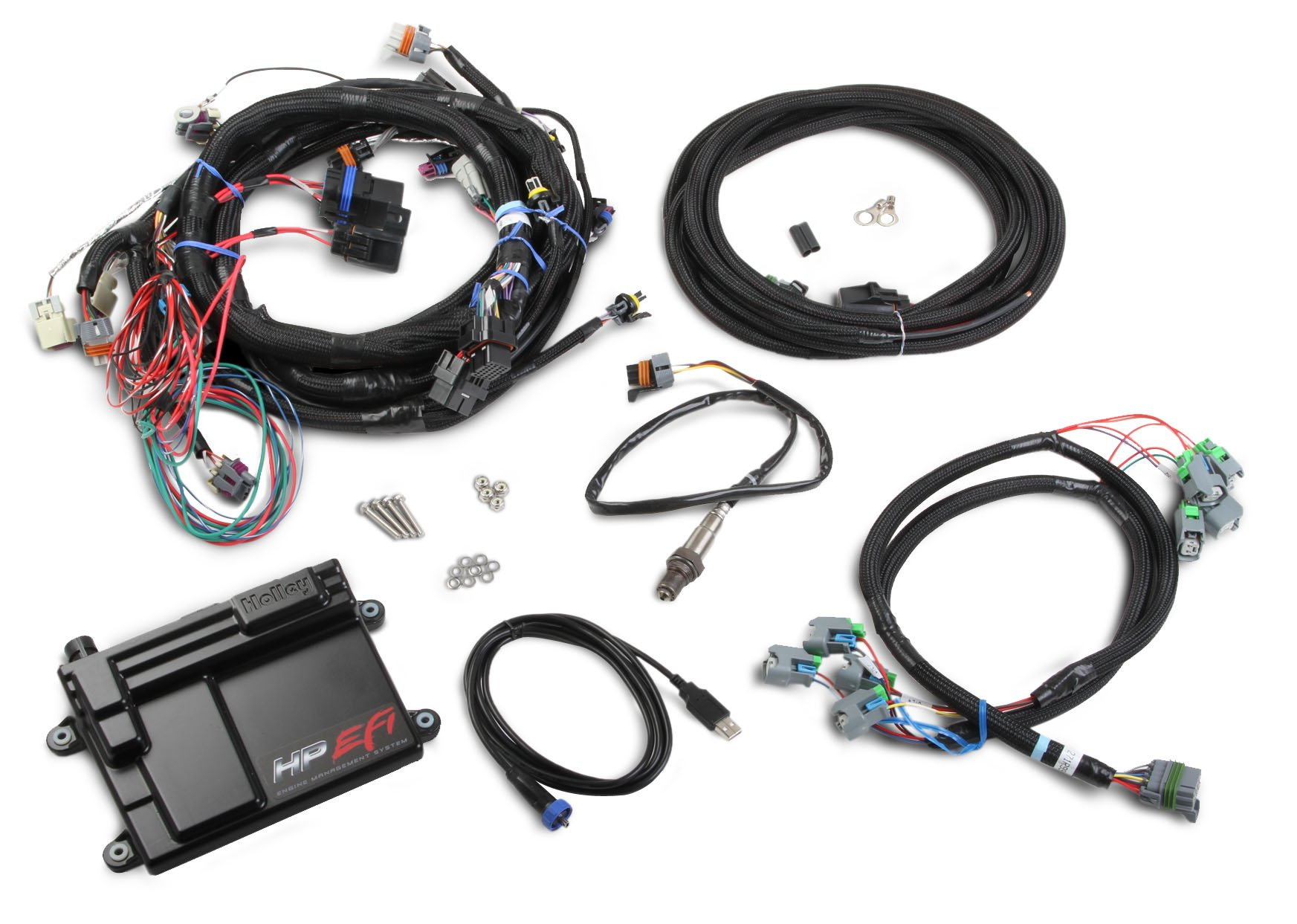 550 603 holley efi 550 603 hp efi ecu & harness kits holley ls wiring harness at bakdesigns.co