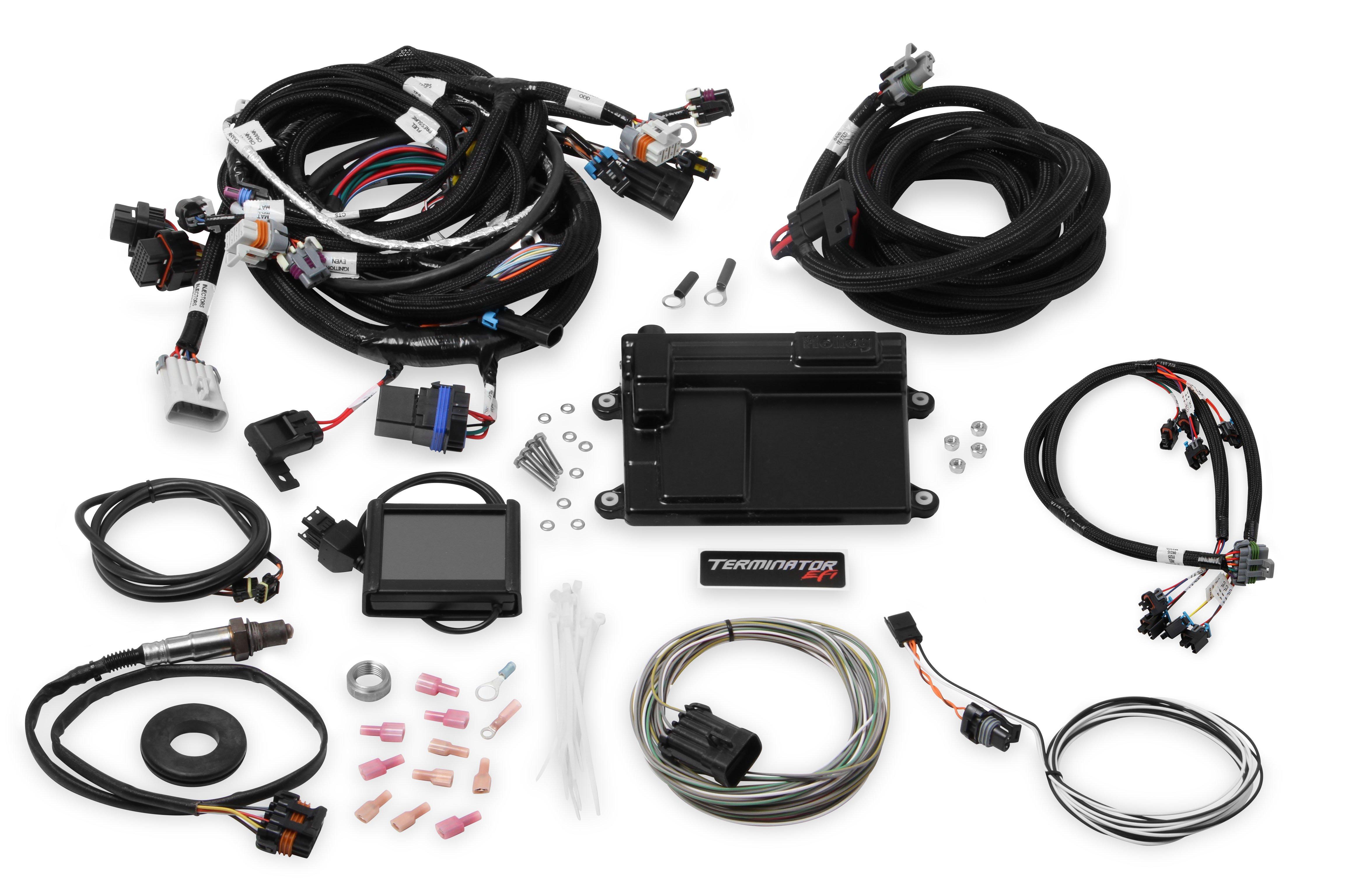 Holley Efi 550 614 Terminator Ls Mpfi Kit 1987 Chevy Sprint Turbo Wiring Diagram Image