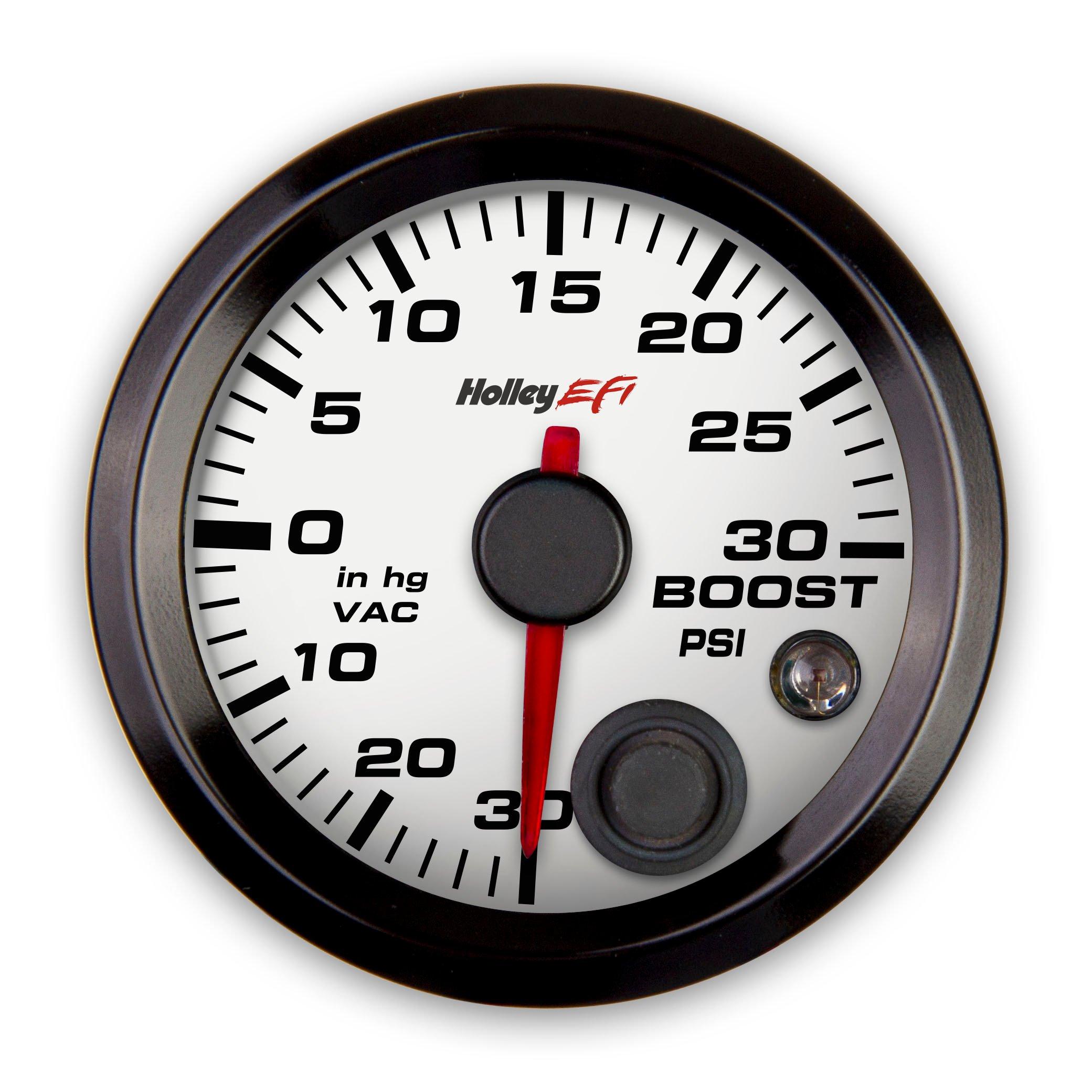 Full Sweep Nitrous Pressure Gauge Mopar OEM Boost Vacuum NOS Silver Face