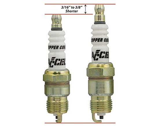 ACCEL 0414S-4 HP Copper Spark Plug Shorty