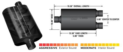 Flowmaster Performance Exhaust Muffler-Super 40 Delta Flow Muffler TM