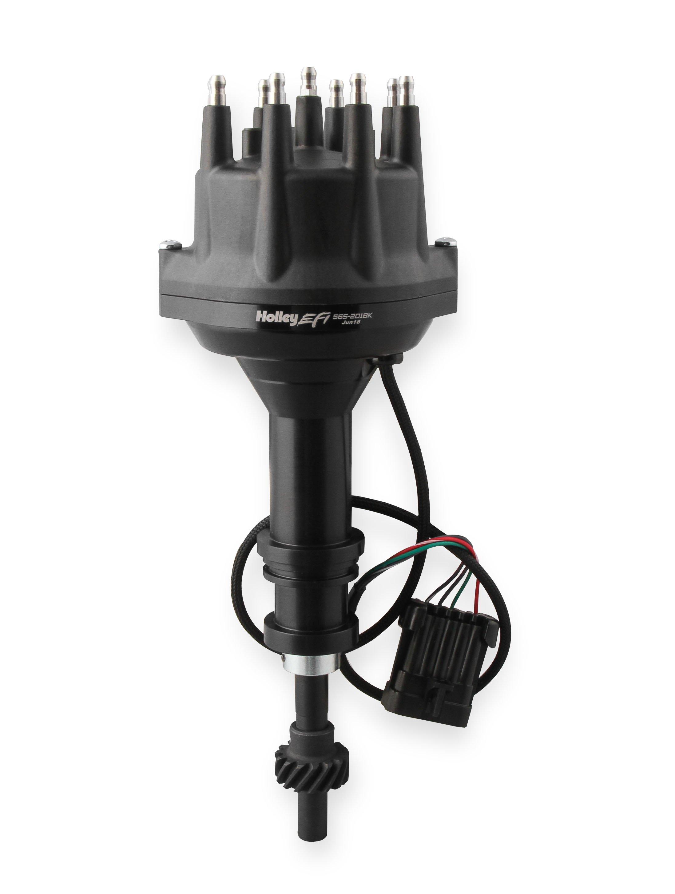 Holley EFI Dual Sync Ford 351W Distributor, Black