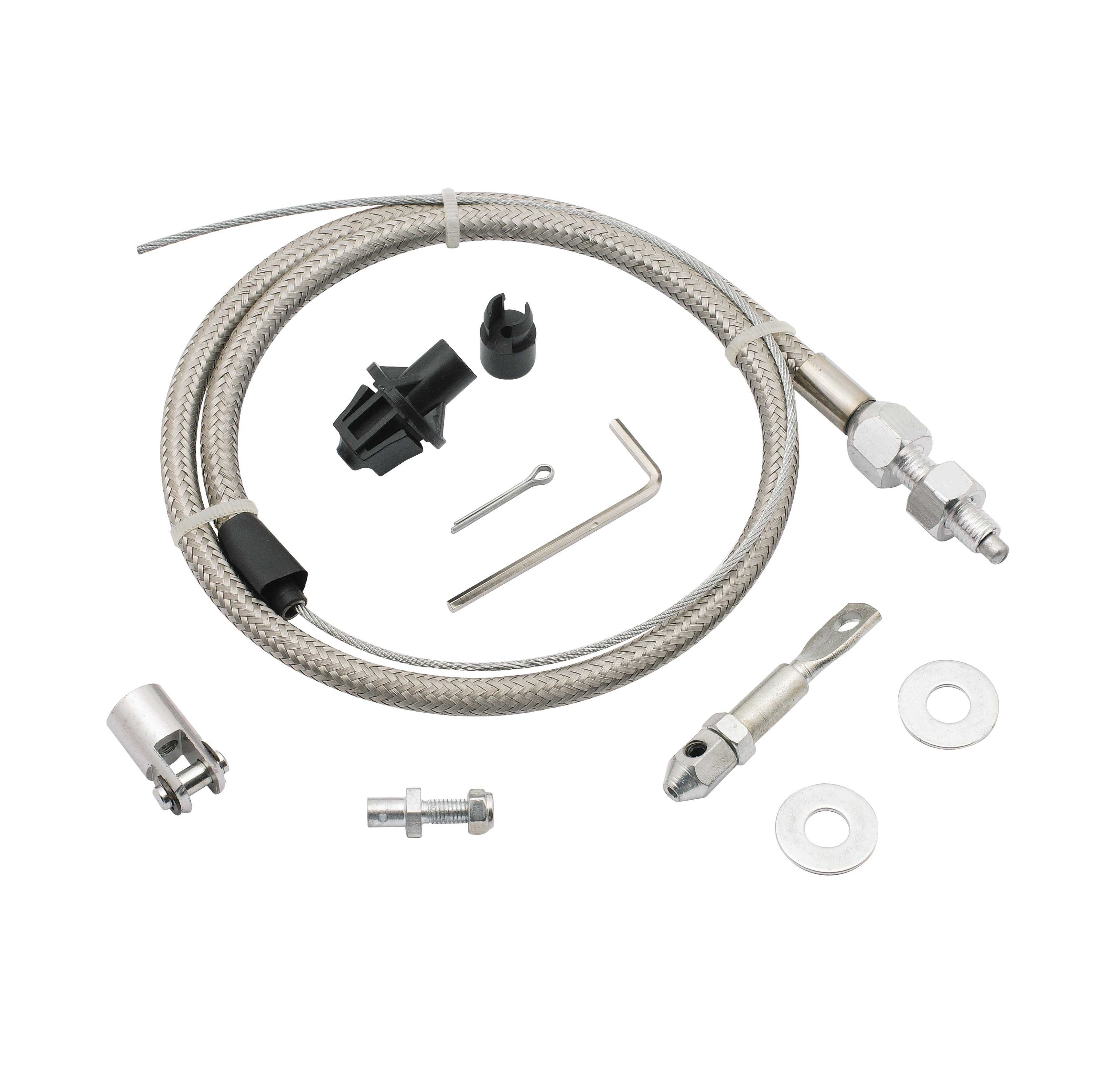 Brackets And Linkage Holley Performance Products 1969 Ford Truck Choke Wiring Throttle Cable Kit Stainless Steel Braided