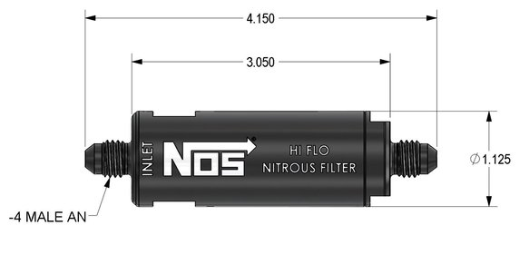15551NOS - NOS In-Line Hi-Flow Nitrous Filter, 4AN - Blue - additional Image