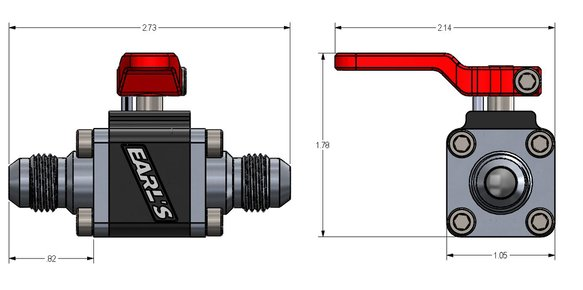 230506ERL - Earls UltraPro Ball Valve -6 AN Male to Male - additional Image