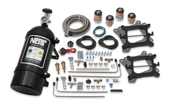 02010BNOS - NOS Cheater Wet Nitrous System for 2x4 Dual 4150 4-barrel Carburetors-Black Image