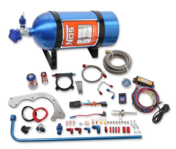 02125NOS - NOS Complete Wet Nitrous System 2011-2014 Mustang with 5.0L Coyote V8 Engine - Blue Image