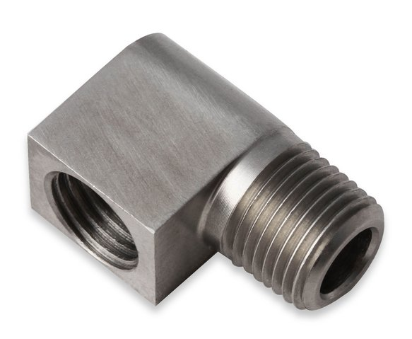 03032ERL - Earls Hardline Adapter - 90 Degree Stainless Steel - 1/8