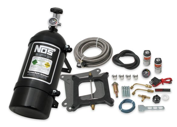 05001BNOS - NOS Powershot Wet Nitrous System for 4150 4-barrel Carburetor - Black Image