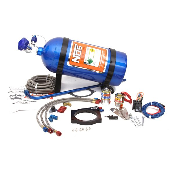 05169NOS - NOS GM 90mm LS EFI Wet Nitrous System with 4-Bolt Throttle Body Image