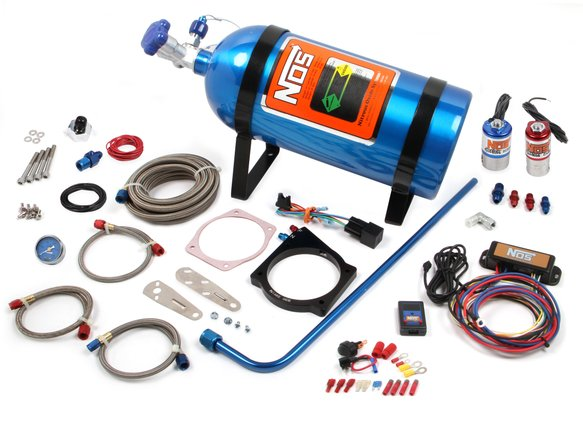 05173NOS - 105mm GM LS w/4-Bolt Drive-By-Wire Throttle Nitrous Complete System Image