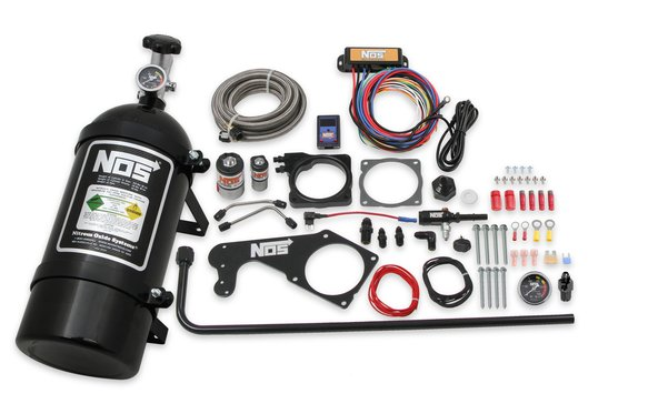 05183BNOS - NOS Complete Wet Nitrous System for 2005-2008 5.7L Charger, Magnum, and Chrysler 300C Hemi - Black Image