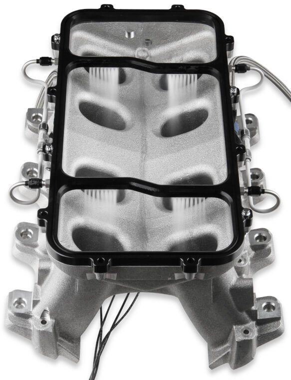 05501BNOS - NOS Dry Nitrous Plate System for Holley LS Hi Ram Intake Manifold - Black - additional Image
