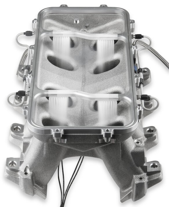 05501NOS - NOS Dry Nitrous Plate System for Holley LS Hi Ram Intake Manifold - Silver - additional Image