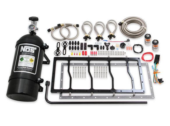 05503BNOS - NOS Dry Nitrous Plate System for Sniper EFI Race Series LS Intake Manifold - Black Image
