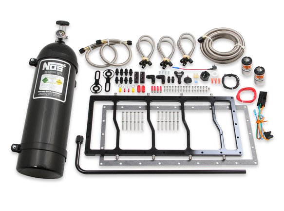 05504BNOS - NOS Dry Nitrous Plate System for Sniper EFI Race Series LS Intake Manifold - Black Image