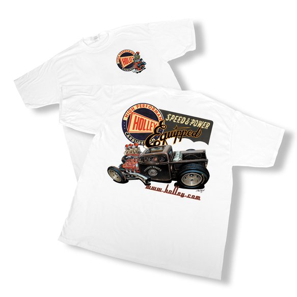 10000-MDHOL - White Holley Retro T-Shirt (Medium) Image