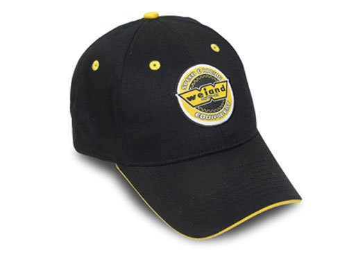 10006WND - Weiand Black Cap with Yellow Trim Image
