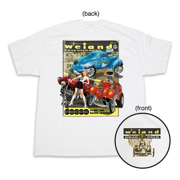 10008-LGWND - Weiand Drag Star Tee - White Image