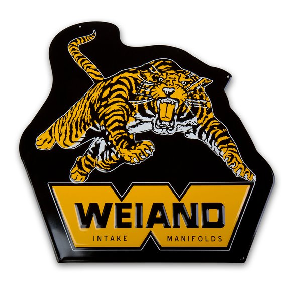 10009WND - Weiand Tiger Metal Sign Image
