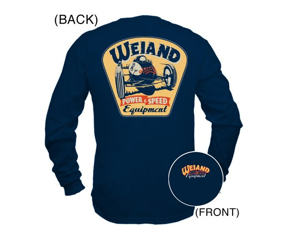 10010-MDWND - Navy Blue Weiand Long Sleeve Retro T-Shirt (Medium) Image