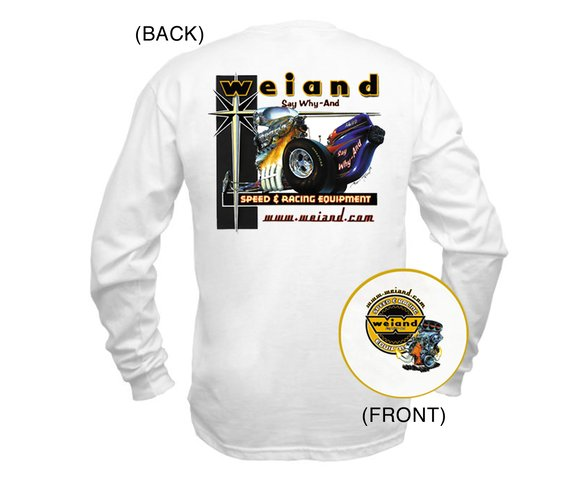 10011-SMWND - White Weiand Long Sleeve Retro T-Shirt (Small) Image