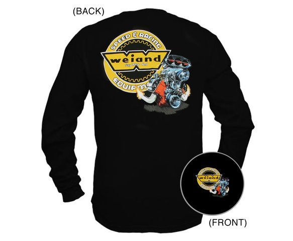 10012-LGWND - Black Weiand Long Sleeve Retro Hemi T-Shirt (Large) Image