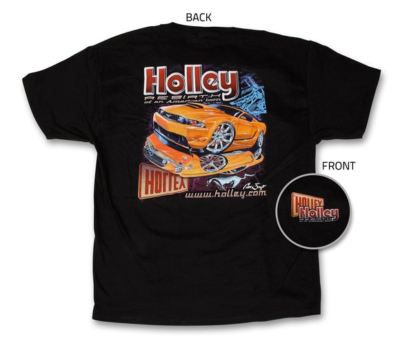 10013-XLHOL - Black Holley Mustang Re-Birth Tee (X-Large) Image