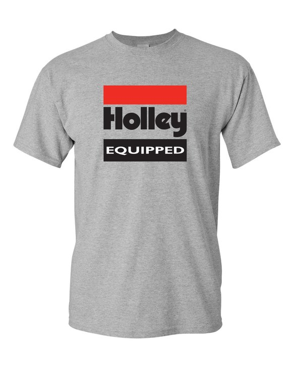 10022-XXLHOL - Gray Holley Equipped T-Shirt (2X-Large) Image