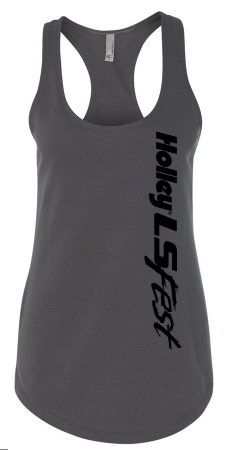 10090-XLHOL - Ladies Gray Tank w/Logo Image
