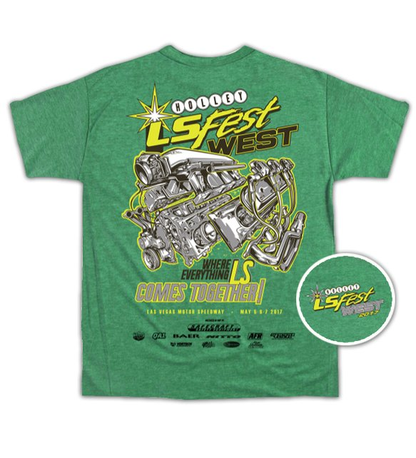10097-LGHOL - 2017 LS FEST WEST ENGINE EVENT TEE - GREEN Image