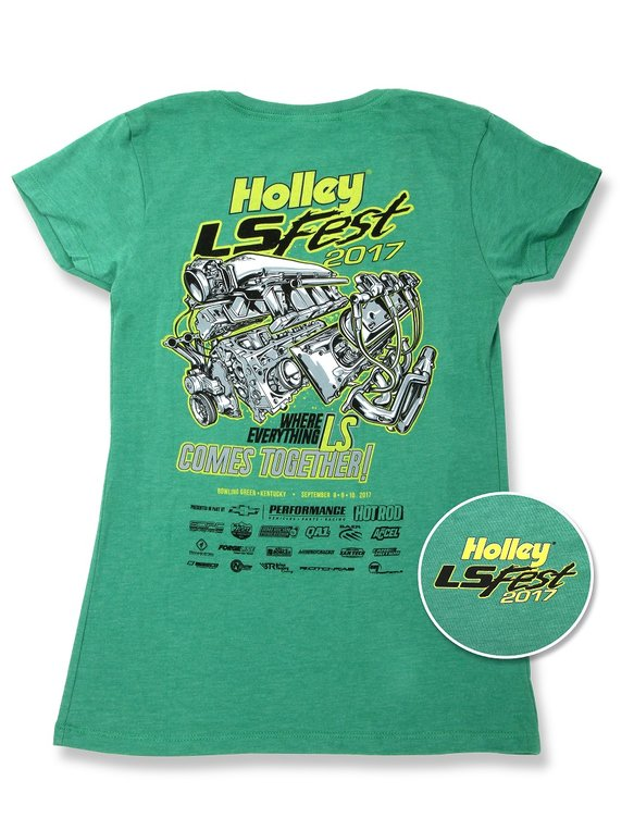 10111-MDHOL - Ladies Green 2017 LS Fest Event Tee Image
