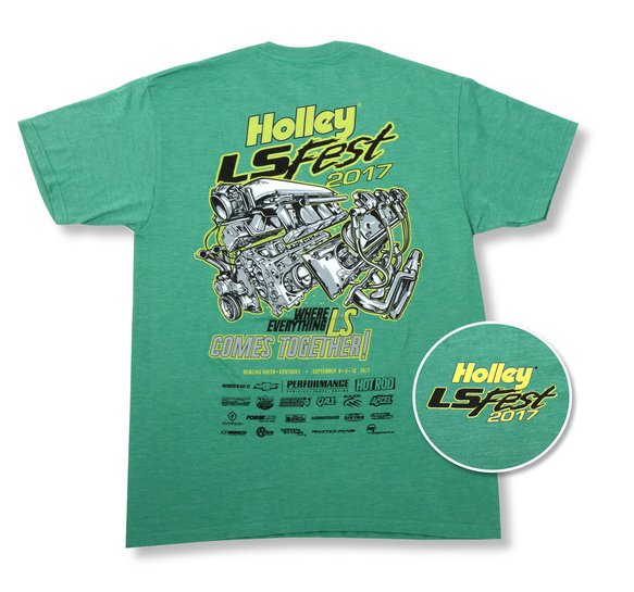 10115-XLHOL - 2017 Holley LS Fest Green Event Tee Image