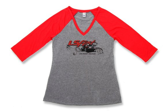 10136-SMHOL - Holley LS Fest Ladies' Baseball T-Shirt Image