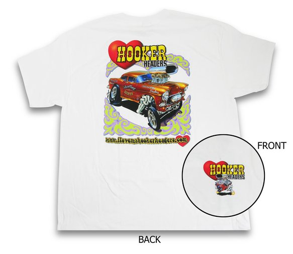 10148-SHKR - White Hooker Retro T-Shirt (Small) Image