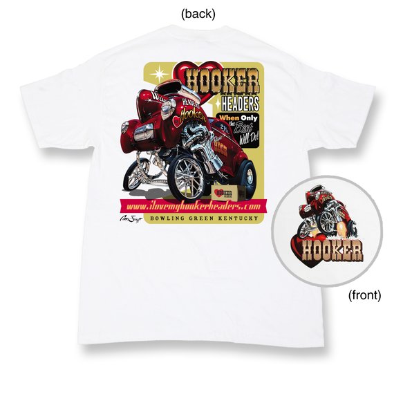 10151-LGHKR - White Hooker Willys No Pin-Up Retro T-shirt (Large) Image