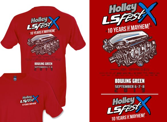 10219-SMHOL - 2019 Holley LS Fest Main Event Engine T-Shirt Image