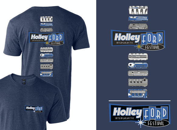 10236-MDHOL - Holley Ford Fest Valve Cover T-Shirt Image