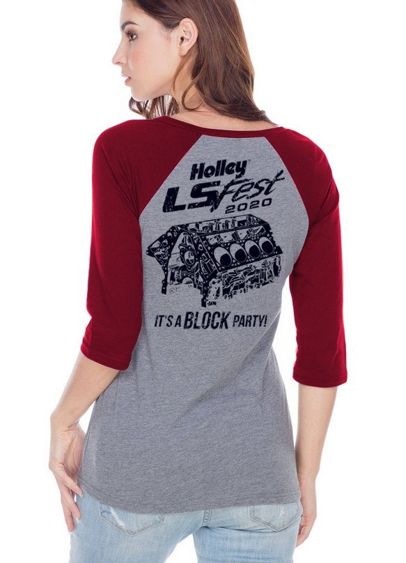 10256-2XHOL - 2020 LS Ladies 3/4 Sleeve Block Party Image