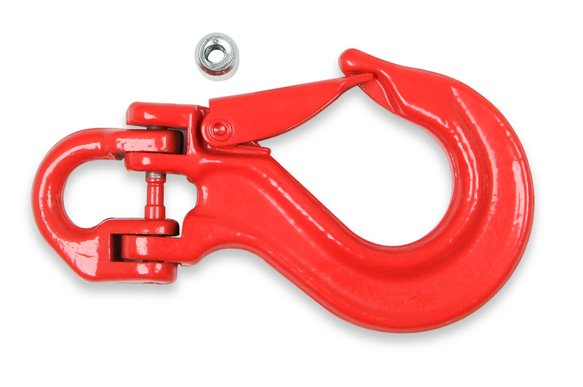 1063AOR - Anvil - Replacement Hook w/ Clasp - 11,000 lbs. - Red Image